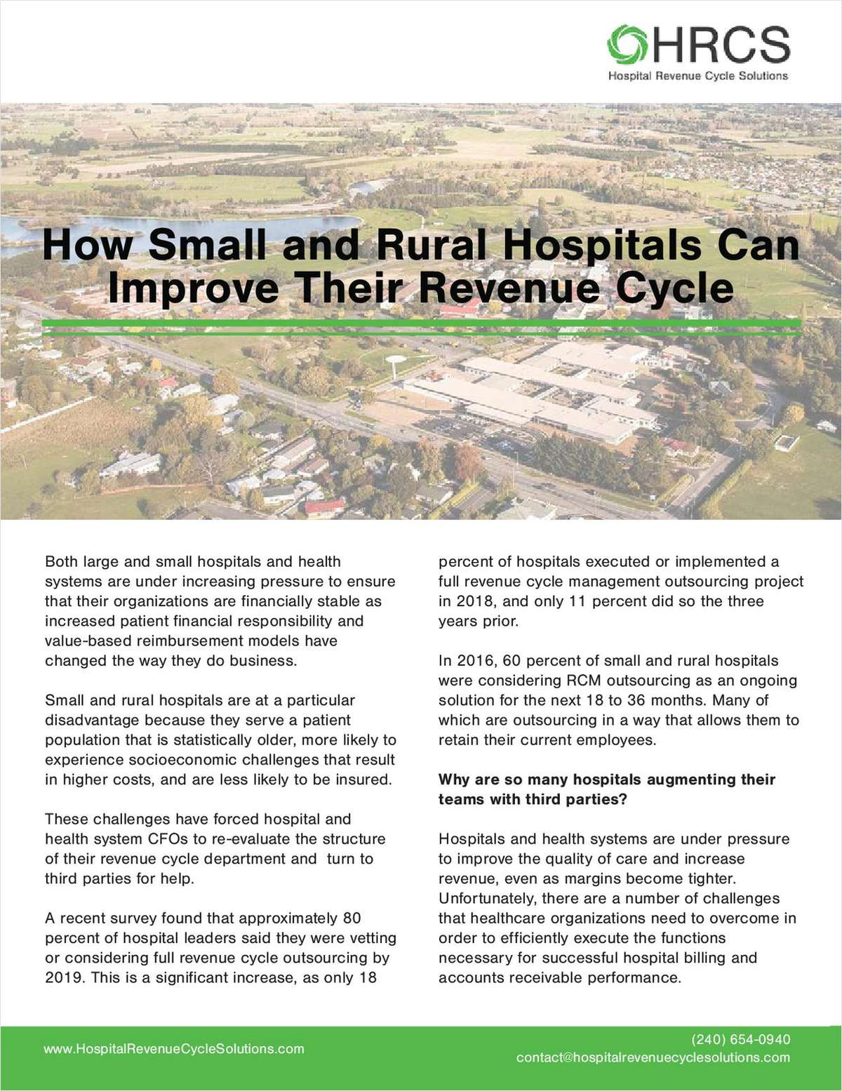 How Small and Rural Hospitals Can Improve Their Revenue Cycle