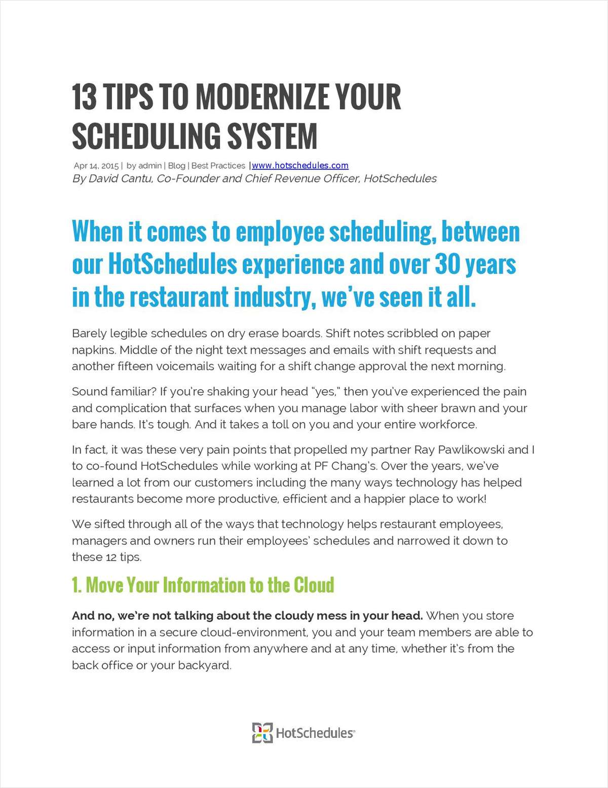 13 Tips to Modernize Your Scheduling System