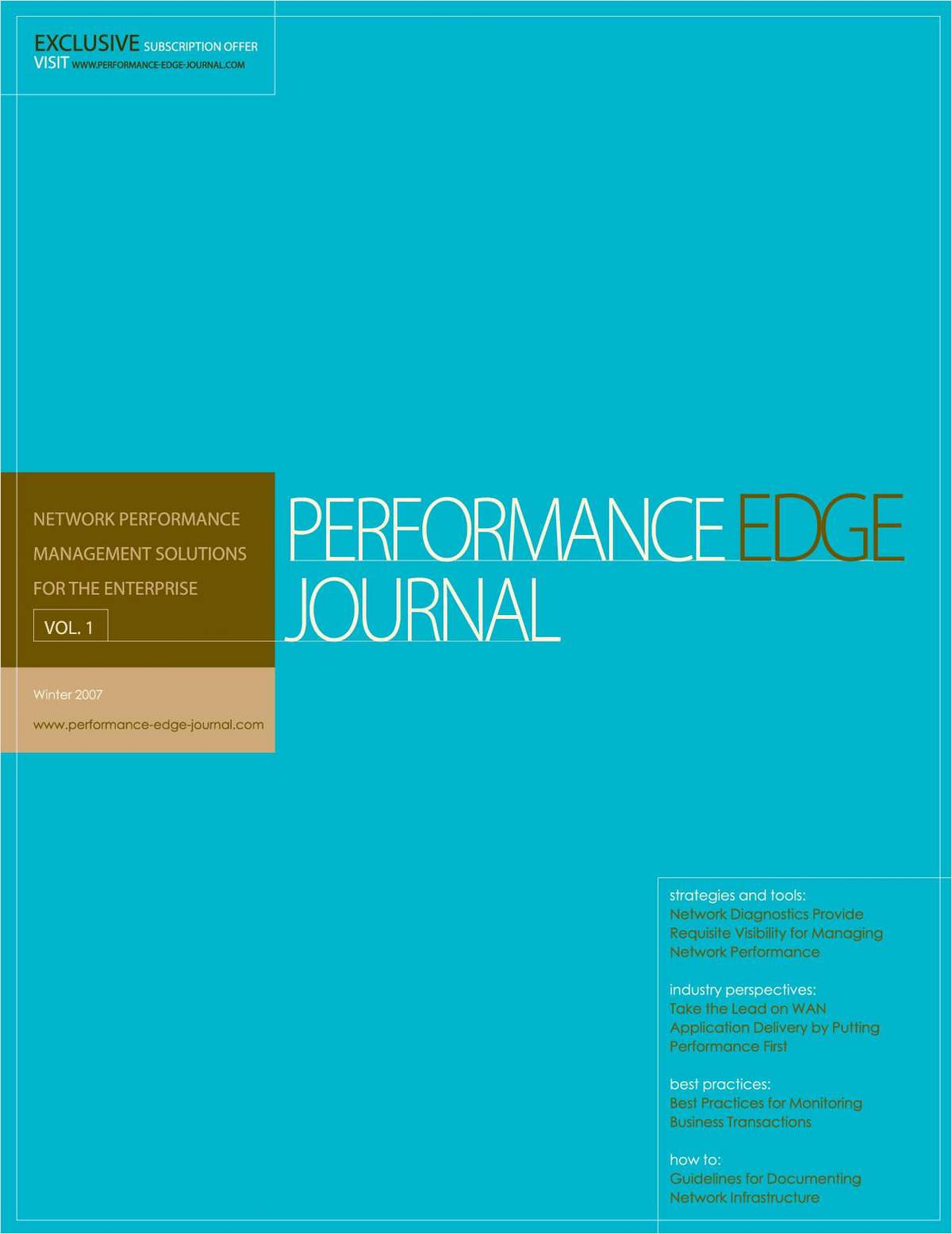 Network Performance Edge Journal — Case studies, tools and tips for managing network performance