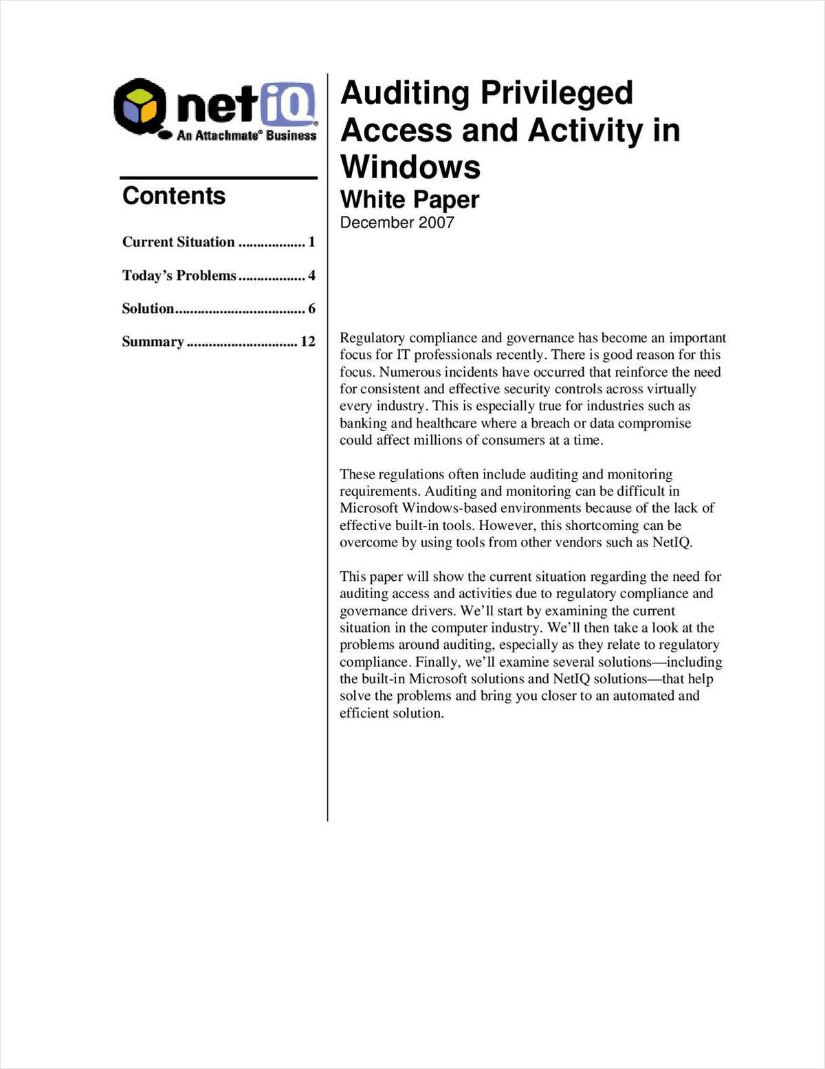 Auditing Privileged Access and Activity in Windows