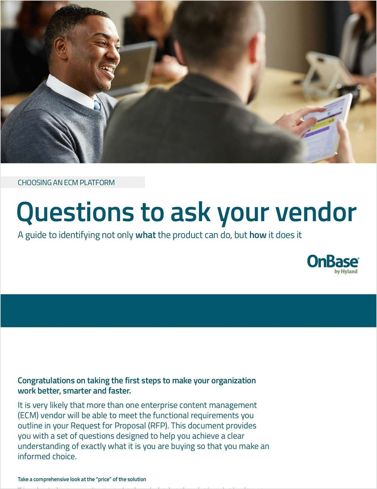 Questions to ask your vendor