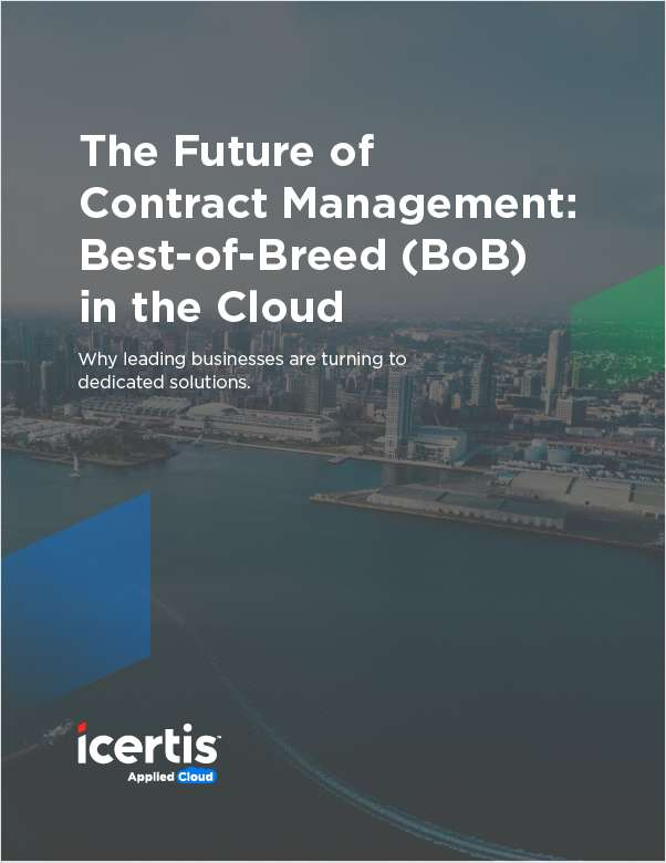 Contract Management: The Future is All About Best-of-Breed in the Cloud
