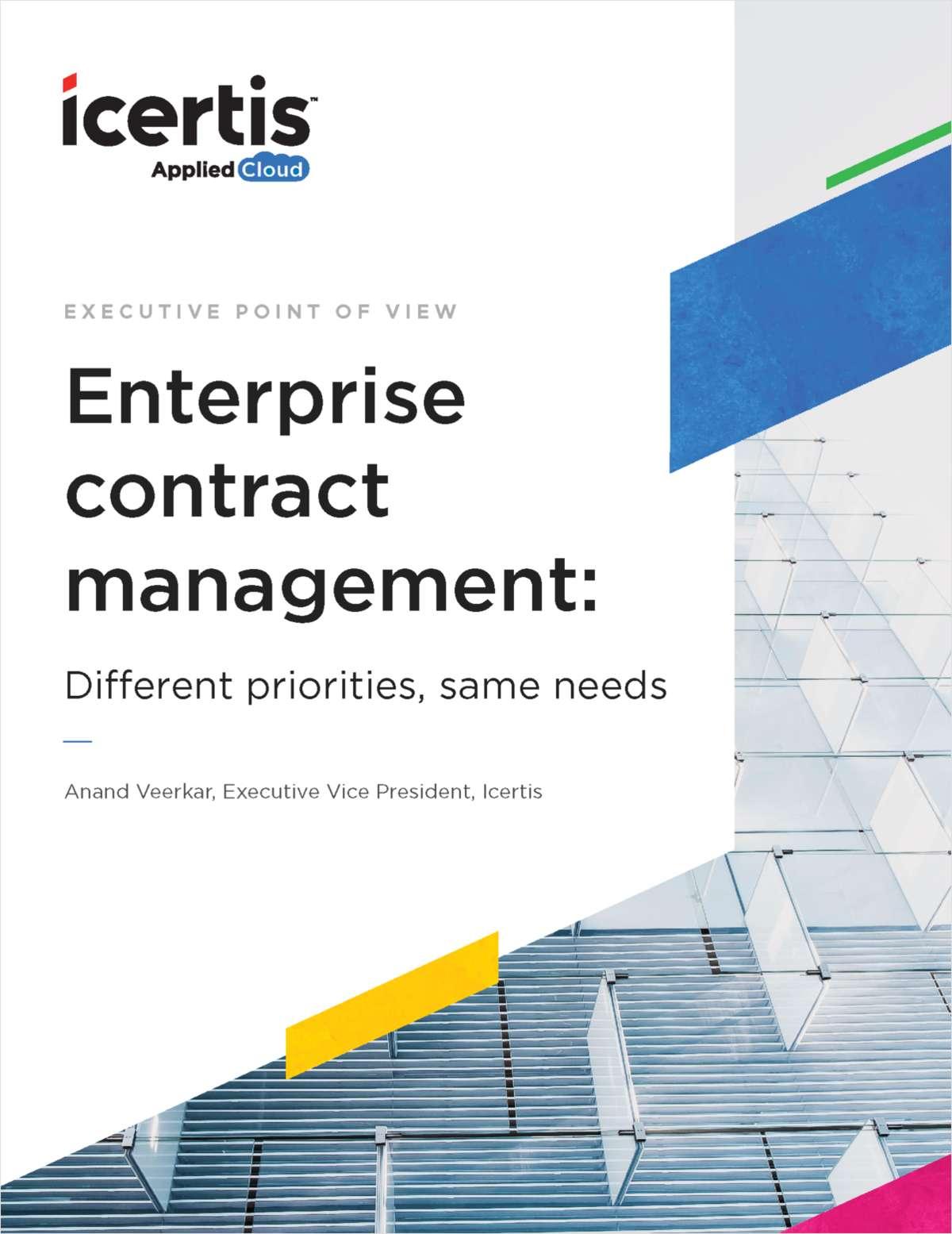 Enterprise Contract Management: Different priorities, same needs