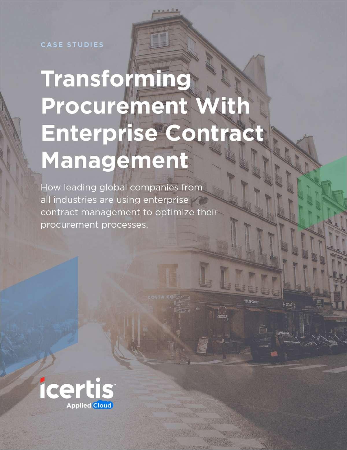 Transforming Procurement with Enterprise Contract Management