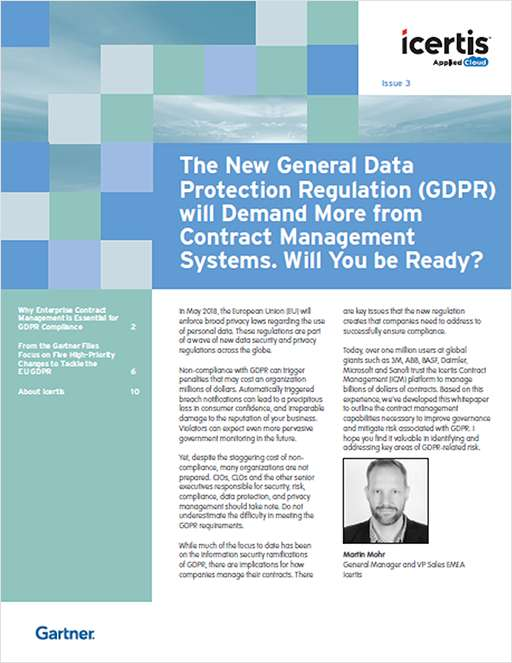 Why Enterprise Contract Management is Essential for GDPR Compliance