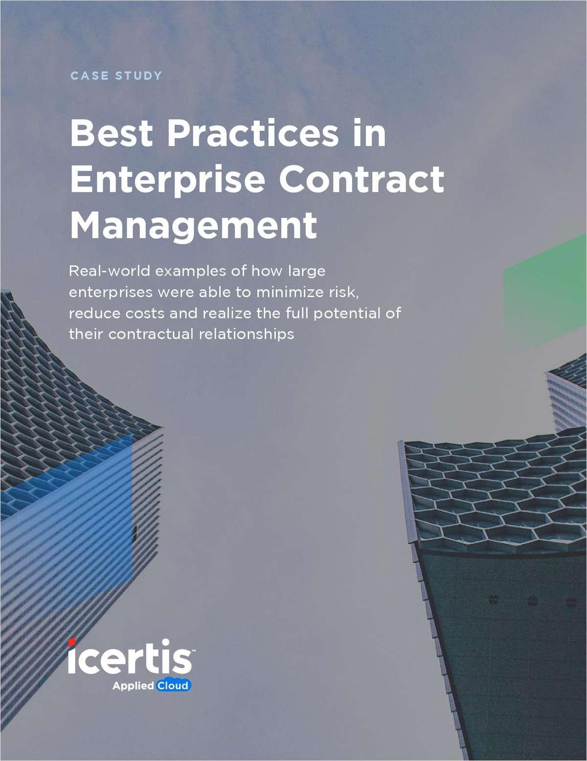 Best Practices in Enterprise Contract Management