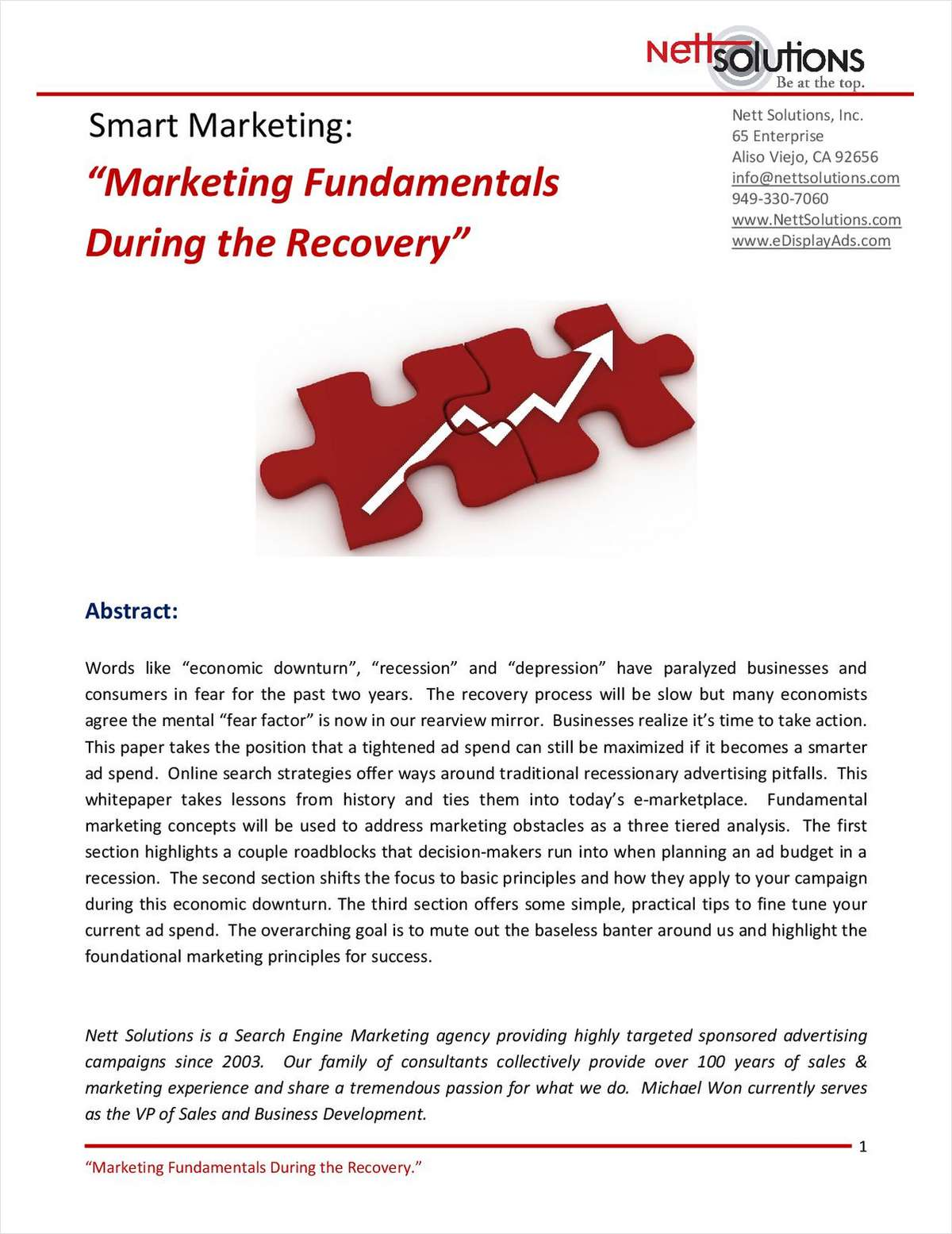 Smart Marketing: Marketing Fundamentals During the Recovery