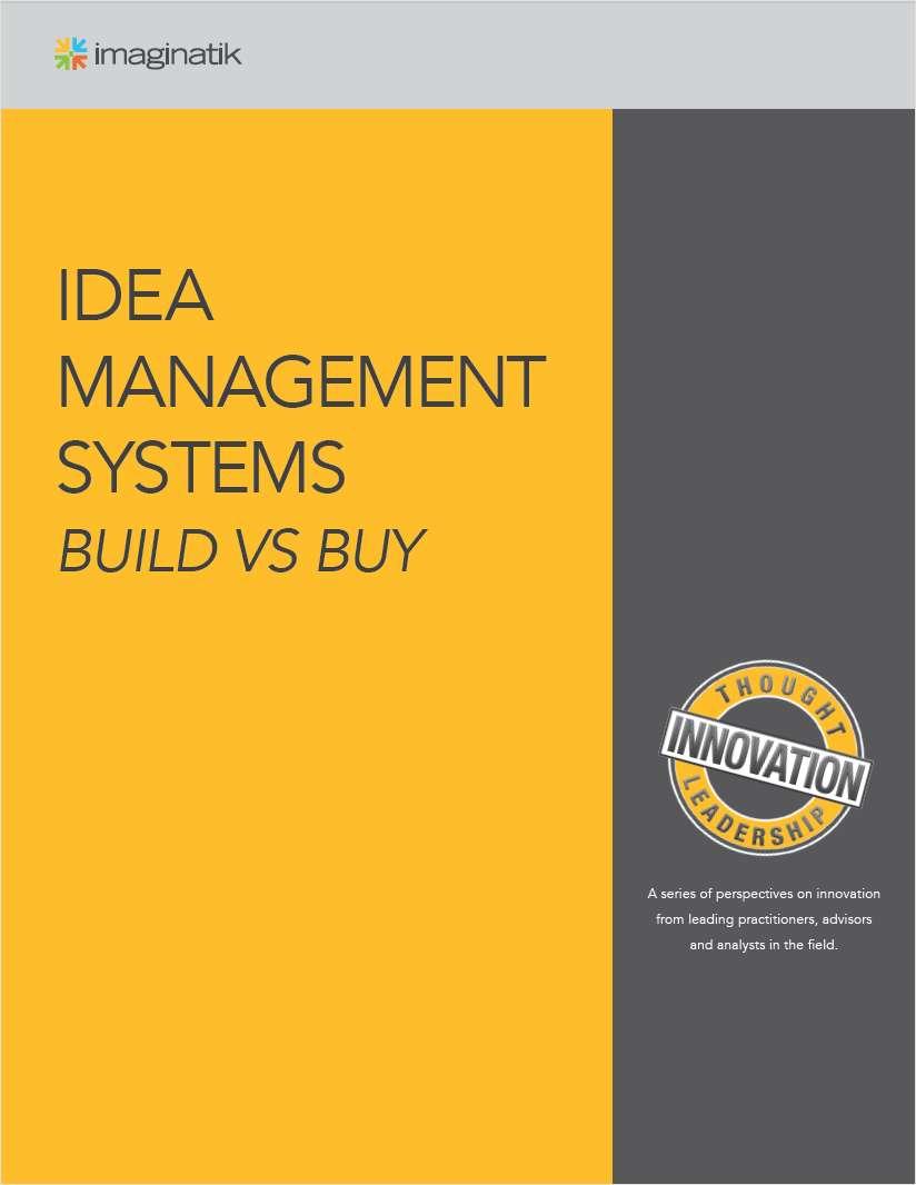 Idea Management Systems: Build vs Buy
