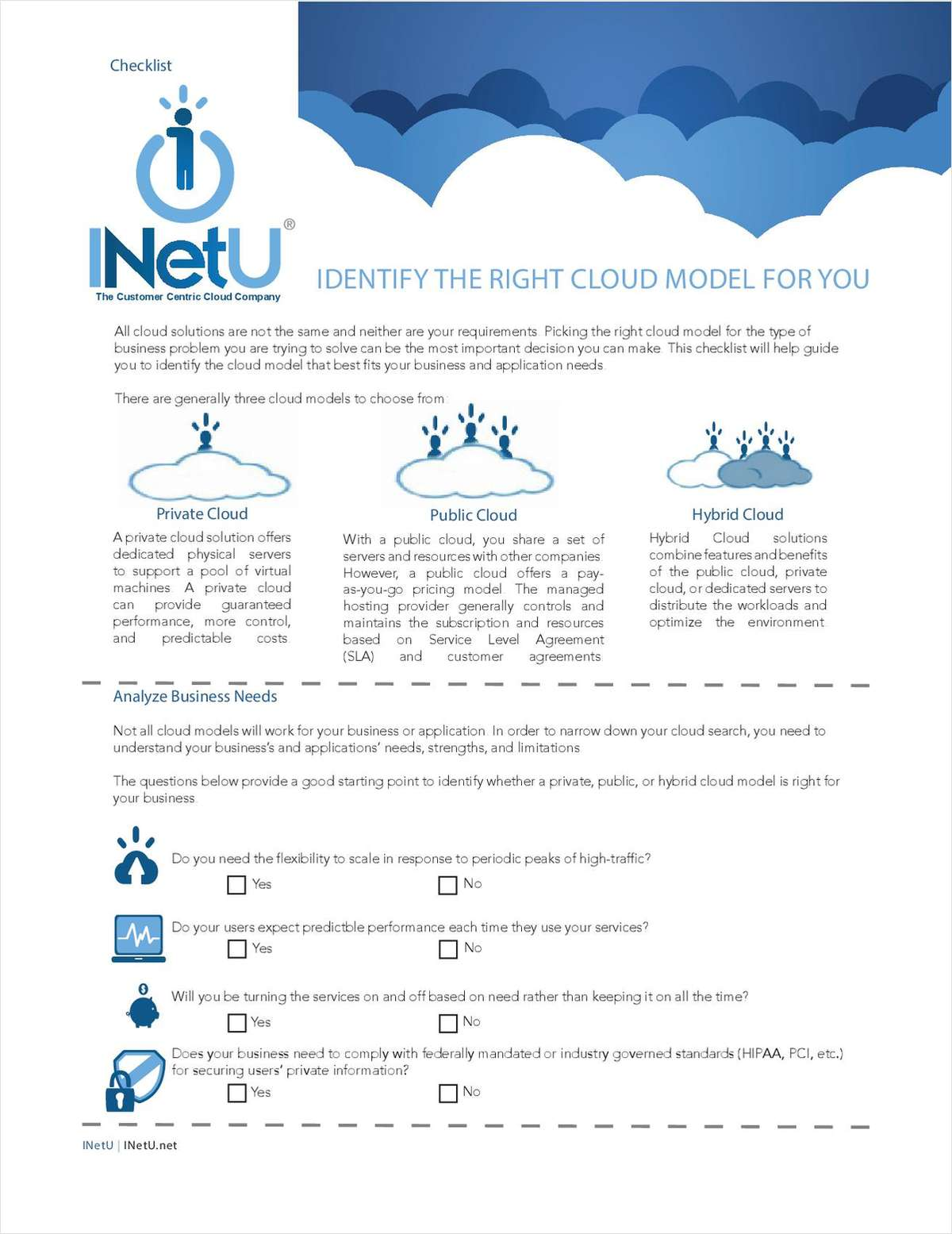 Identify the Right Cloud Model for You