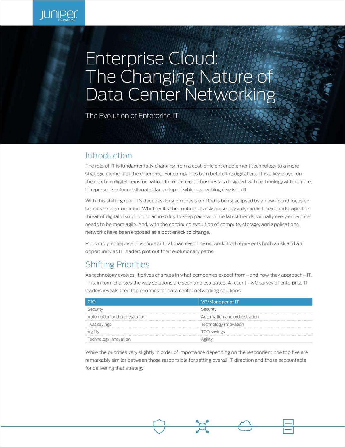 Enterprise Cloud: The Changing Nature of Data Center Networking