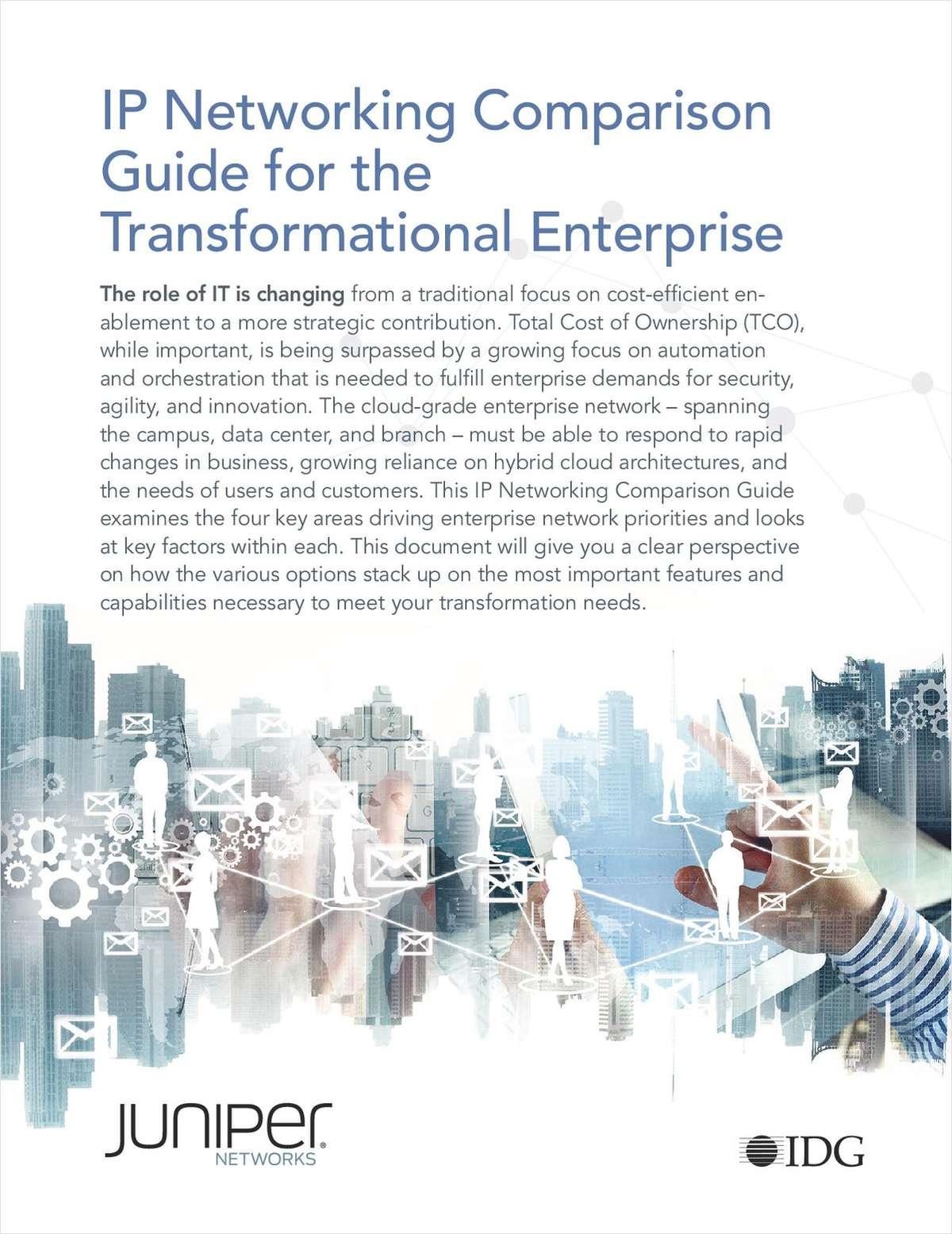 IP Networking Comparison Guide: Juniper vs. Cisco vs. Extreme vs. Arista vs. HP