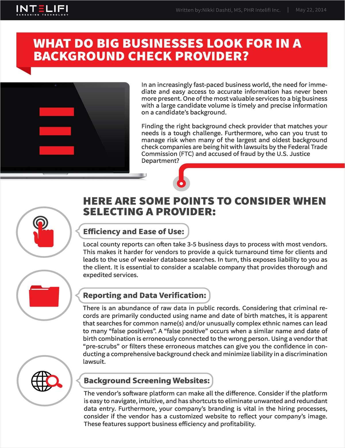 Do you run 100's of background checks?