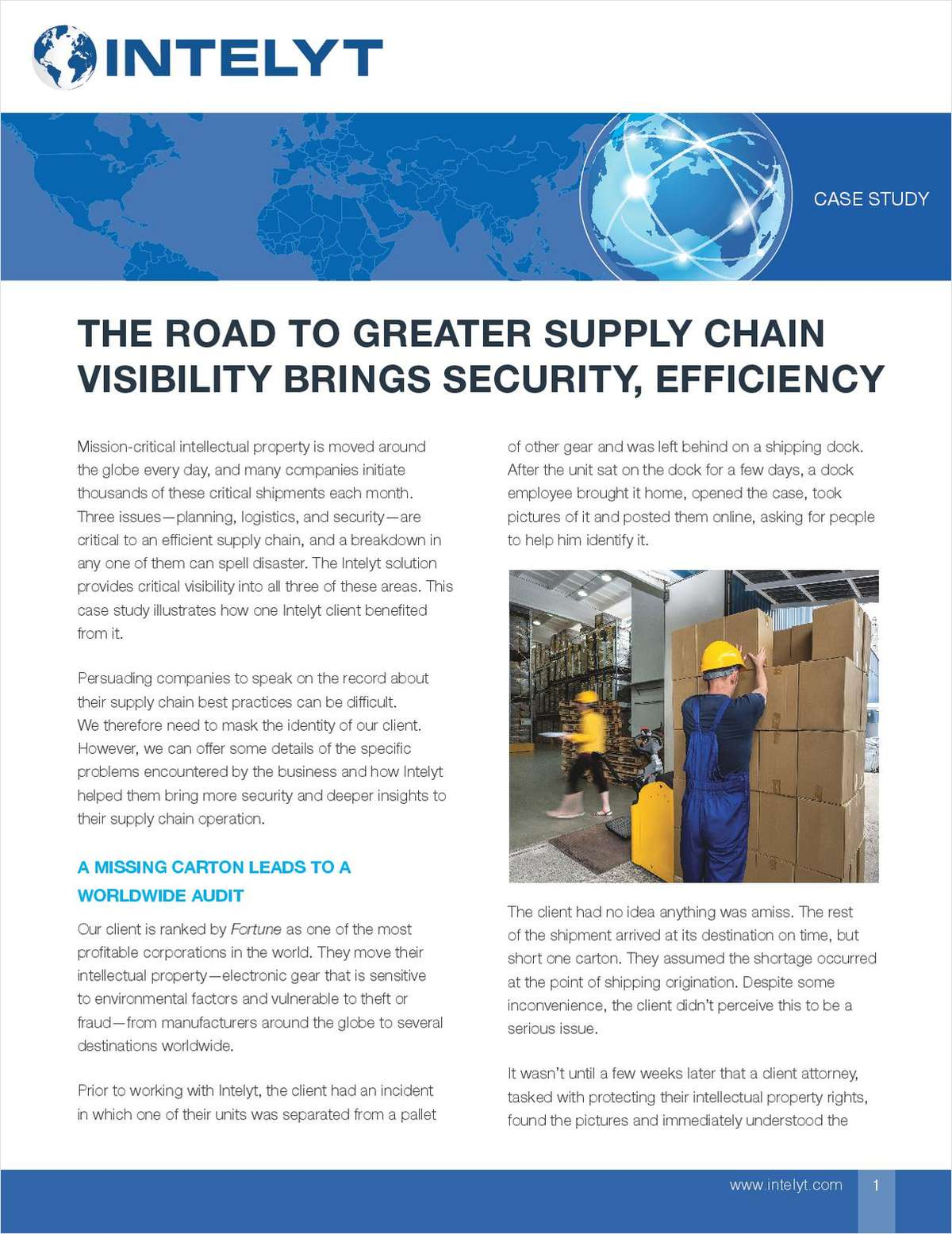 The Road To Greater Supply Chain Visibility Brings Security, Efficiency