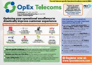 Use Operational Excellence in Telecoms to Drive Revenues - It's new to operators, stay ahead of your competitors by making positive process changes