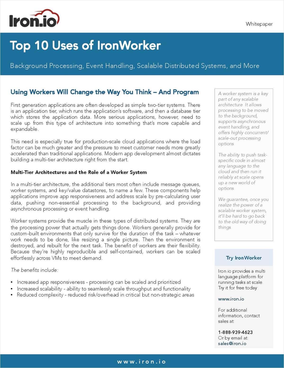 THE TOP 10 USE CASES FOR IRONWORKER