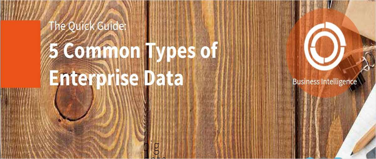 5 Common Types of Enterprise Data