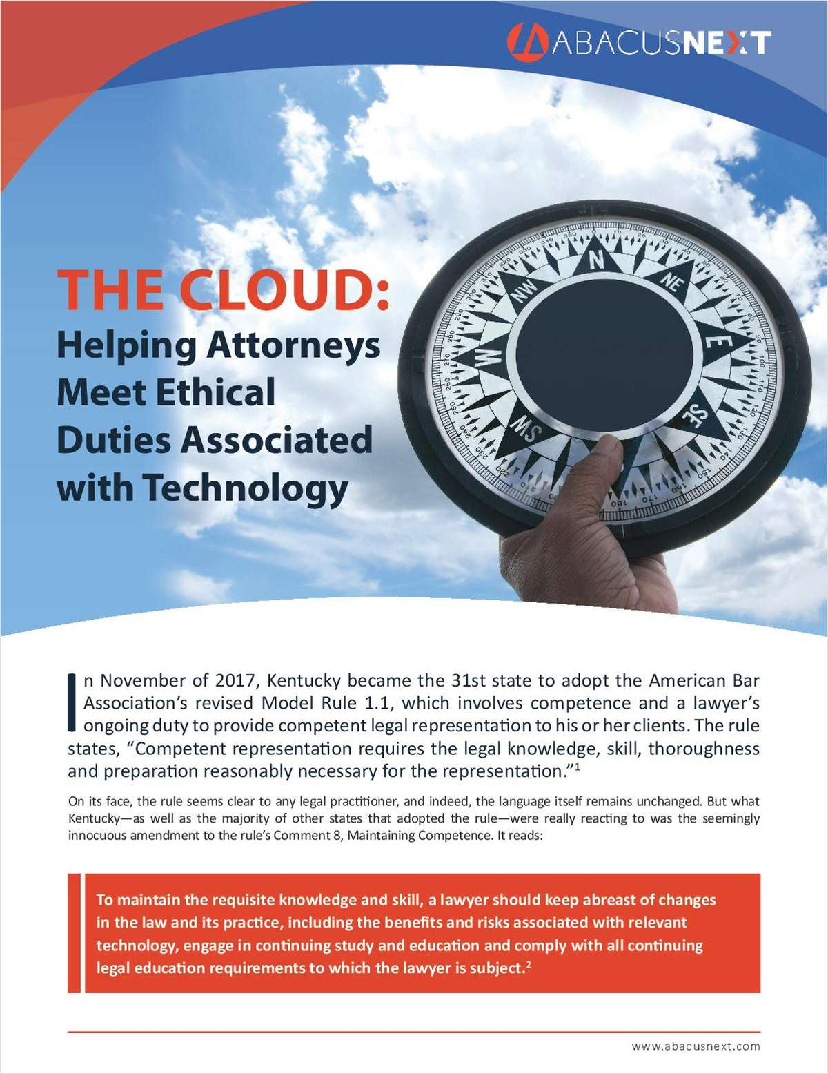 How the Cloud Helps Attorneys Meet Ethical Duties Associated with Technology