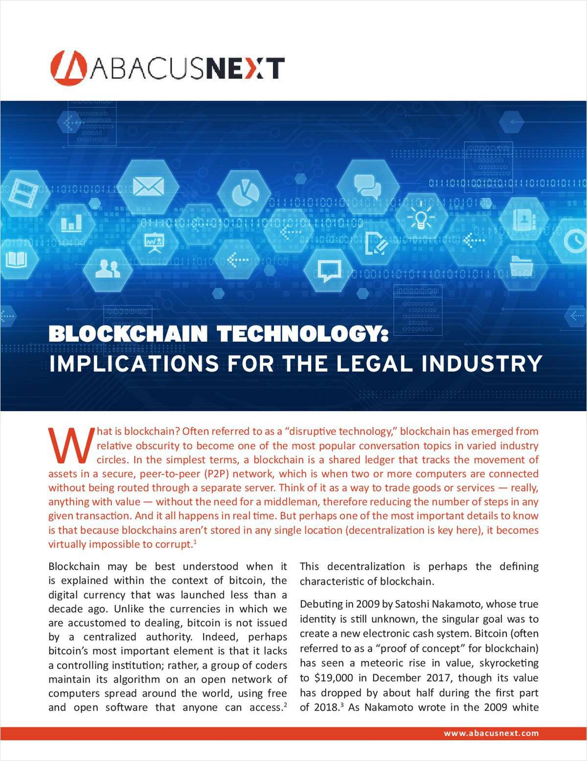 Blockchain Technology: 4 Implications for the Legal Industry