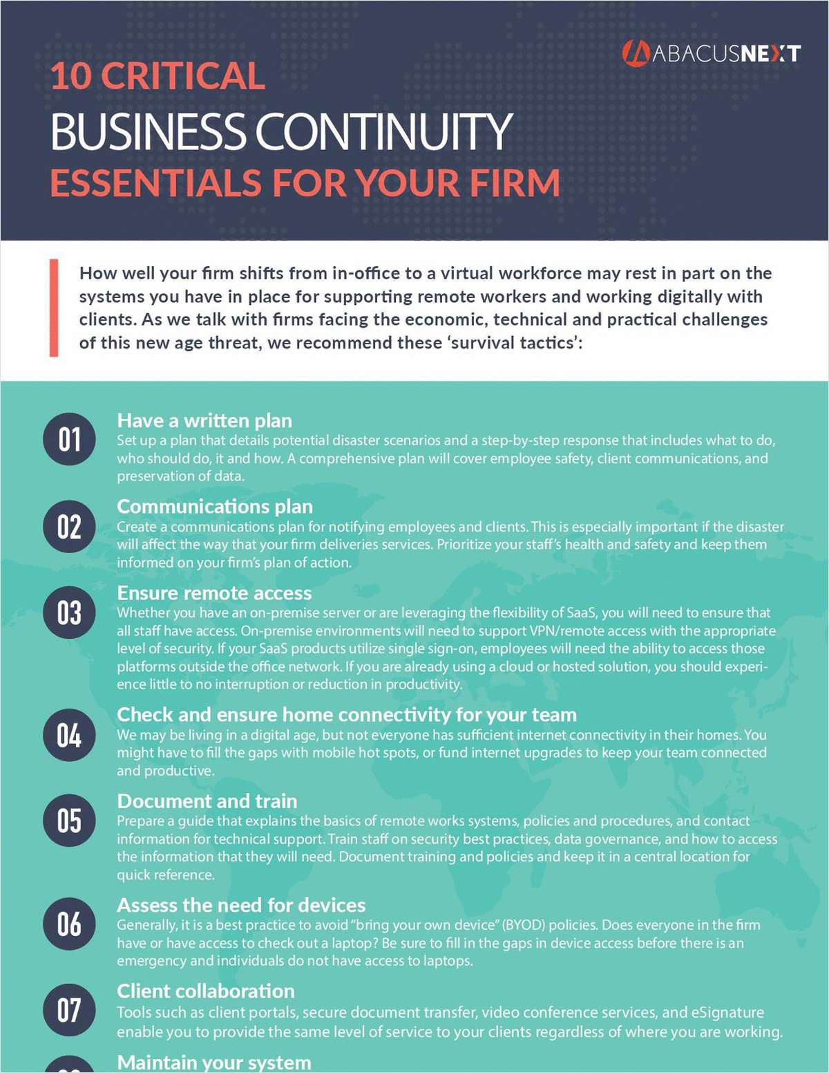 10 Critical Business Continuity Essentials for Your Firm
