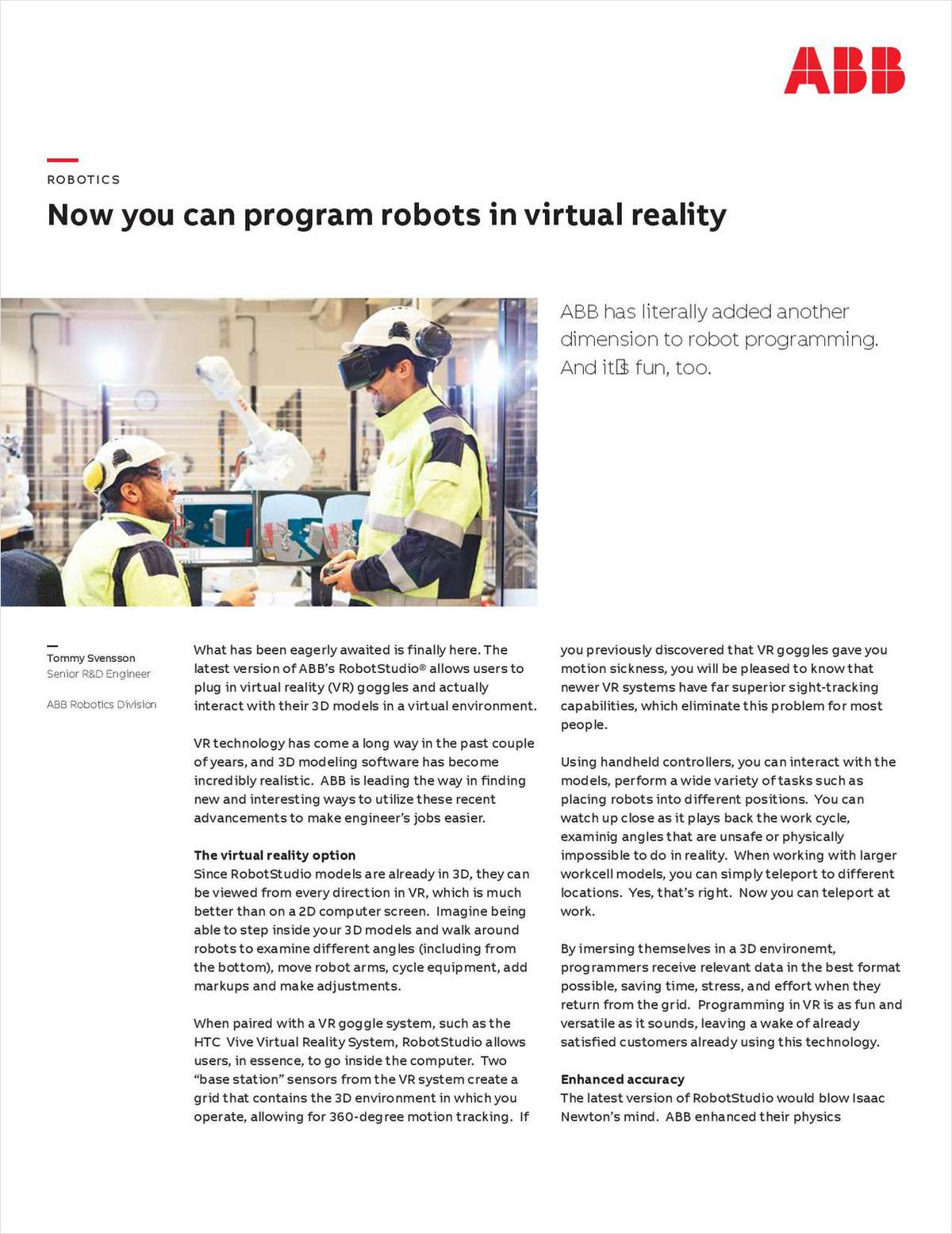 Now You Can Program Robots in Virtual Reality
