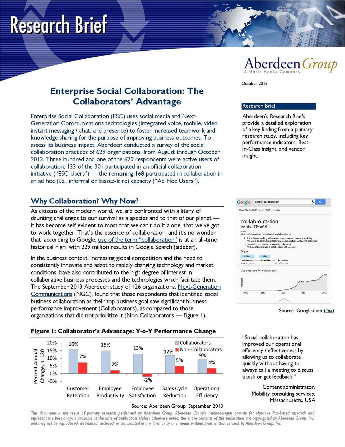 Enterprise Social Collaboration: The Collaborators' Advantage