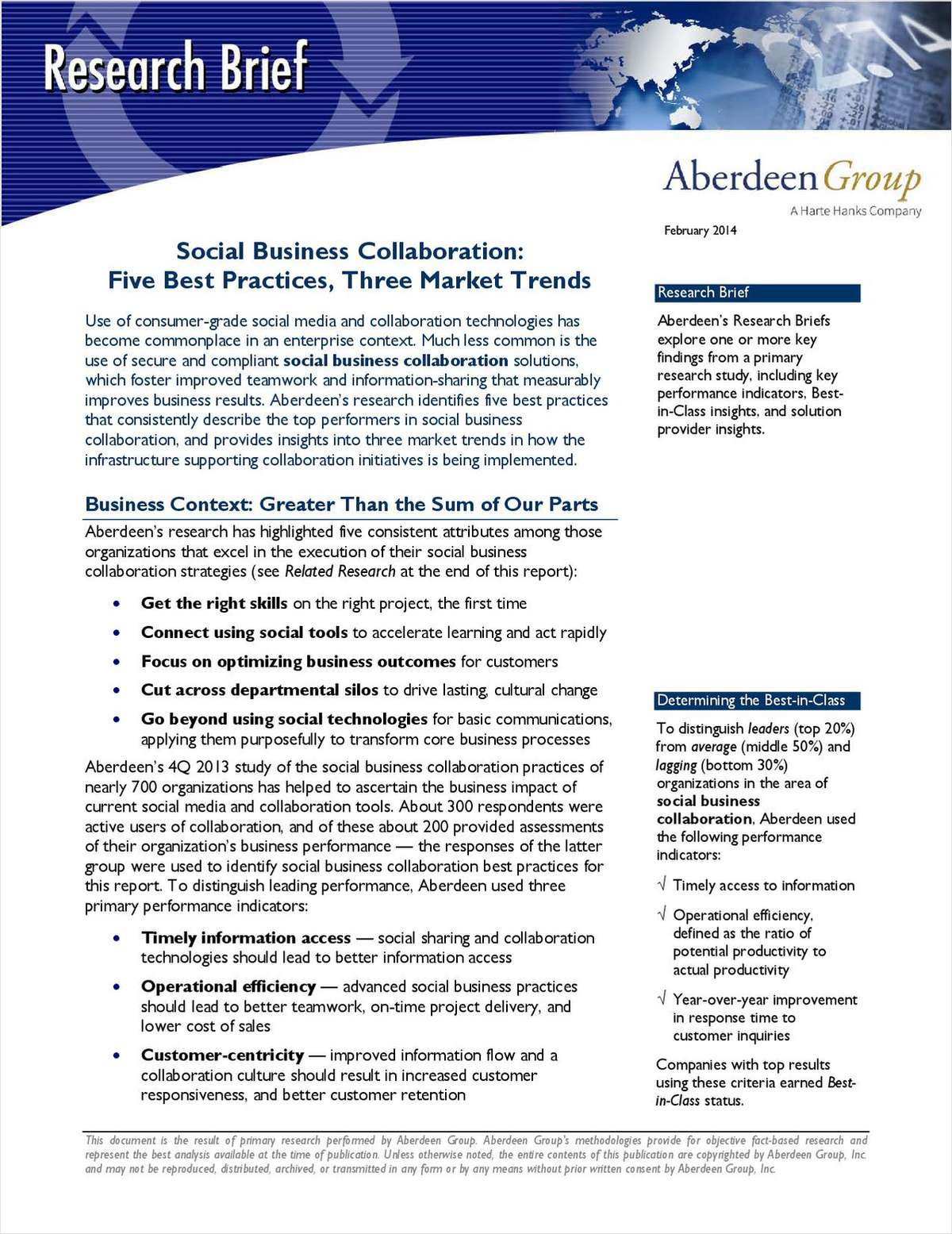 Social Business Collaboration: Five Best Practices, Three Market Trends