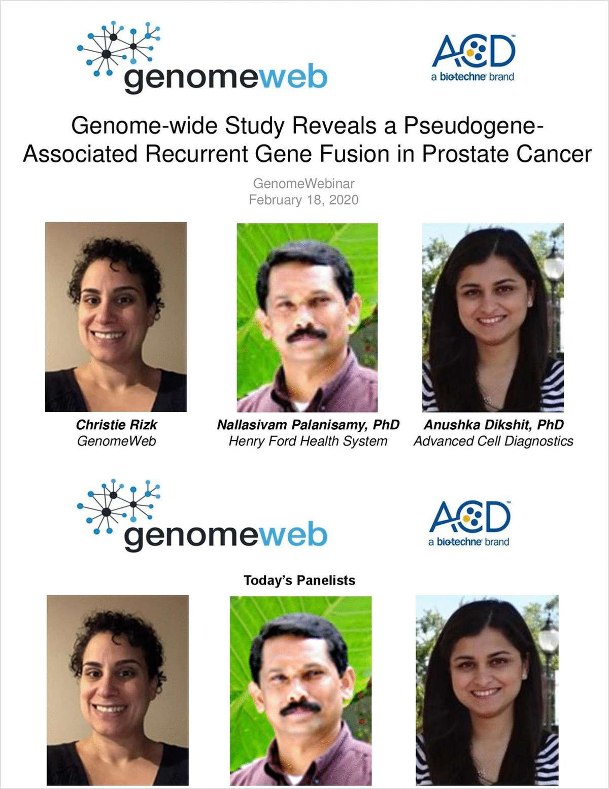 Genome-wide Study Reveals a Pseudogene Associated Recurrent Gene Fusion in Prostate Cancer Slideshow