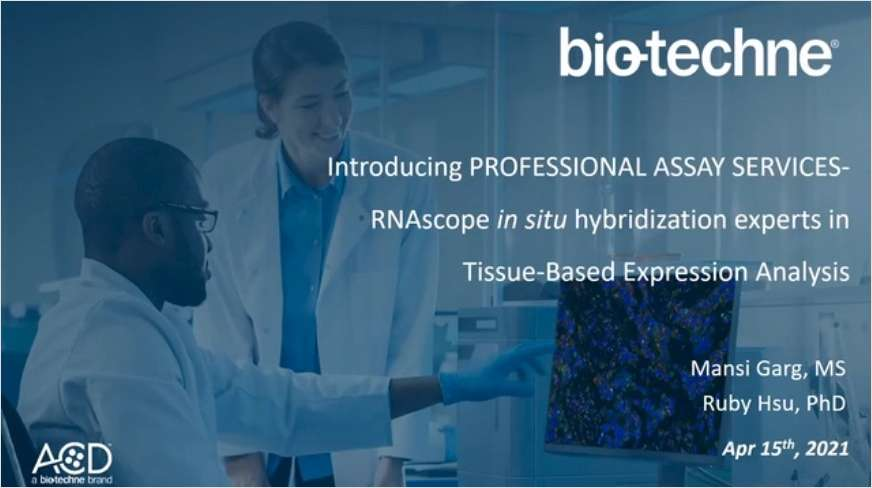 Introducing Professional Assay Services - RNAscope ISH Experts in Tissue Expression Analysis