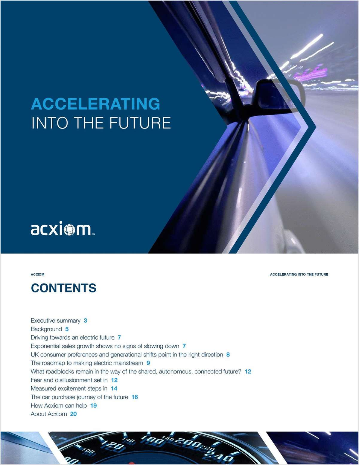 Accelerating Into The Future