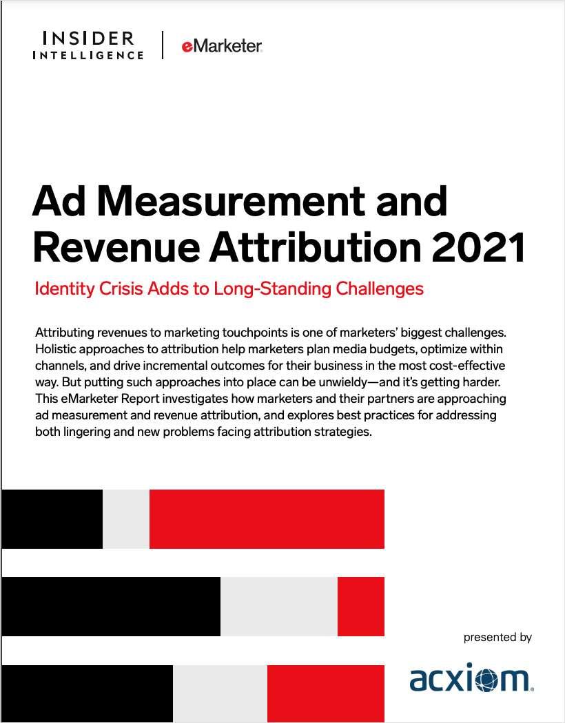 Ad Measurement and Revenue Attribution Report 2021