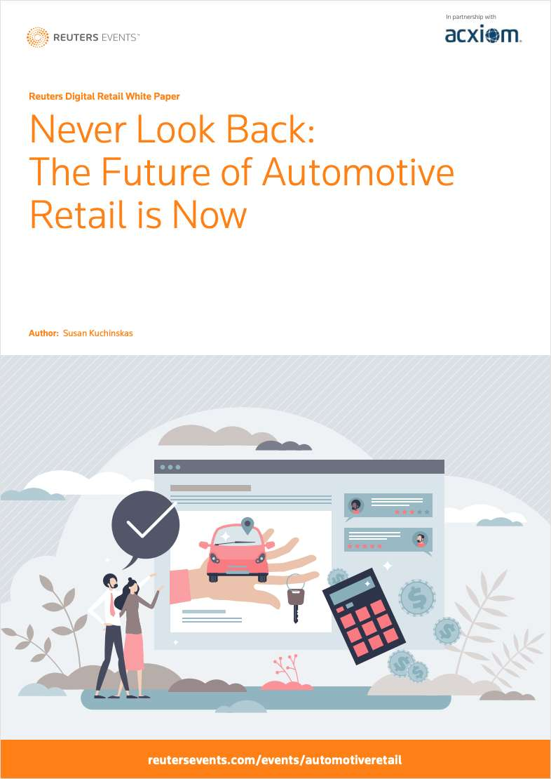 Never Look Back: The Future of Automotive Retail is Now