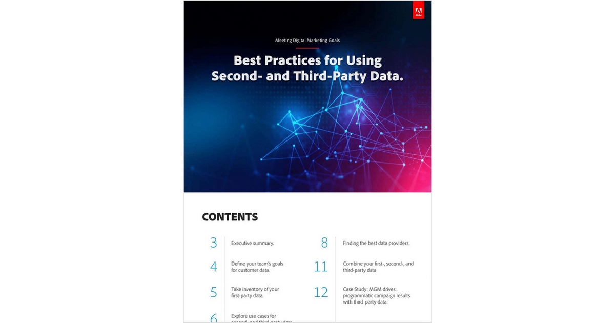 Best Practices for Using Second- and Third-Party Data, Free