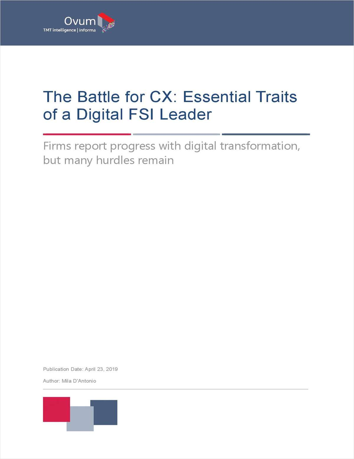 The Battle for CX: Essential Traits of a Digital FSI Leader