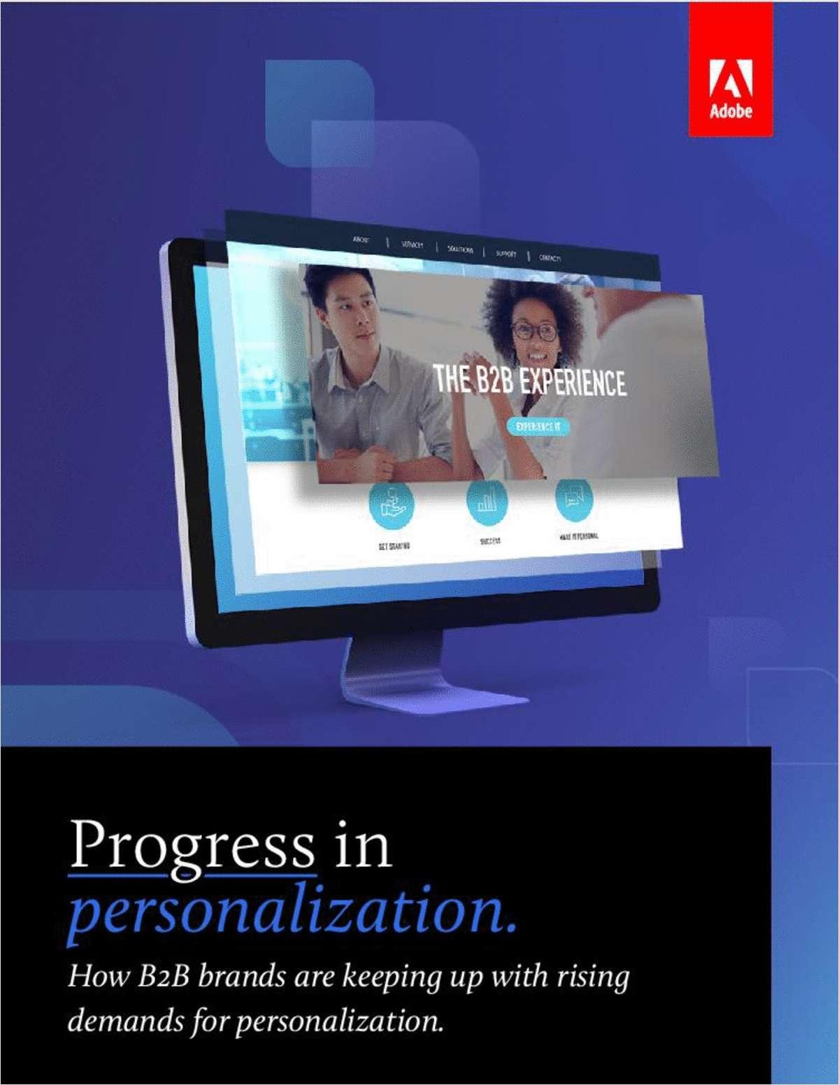 Progress in Personalization