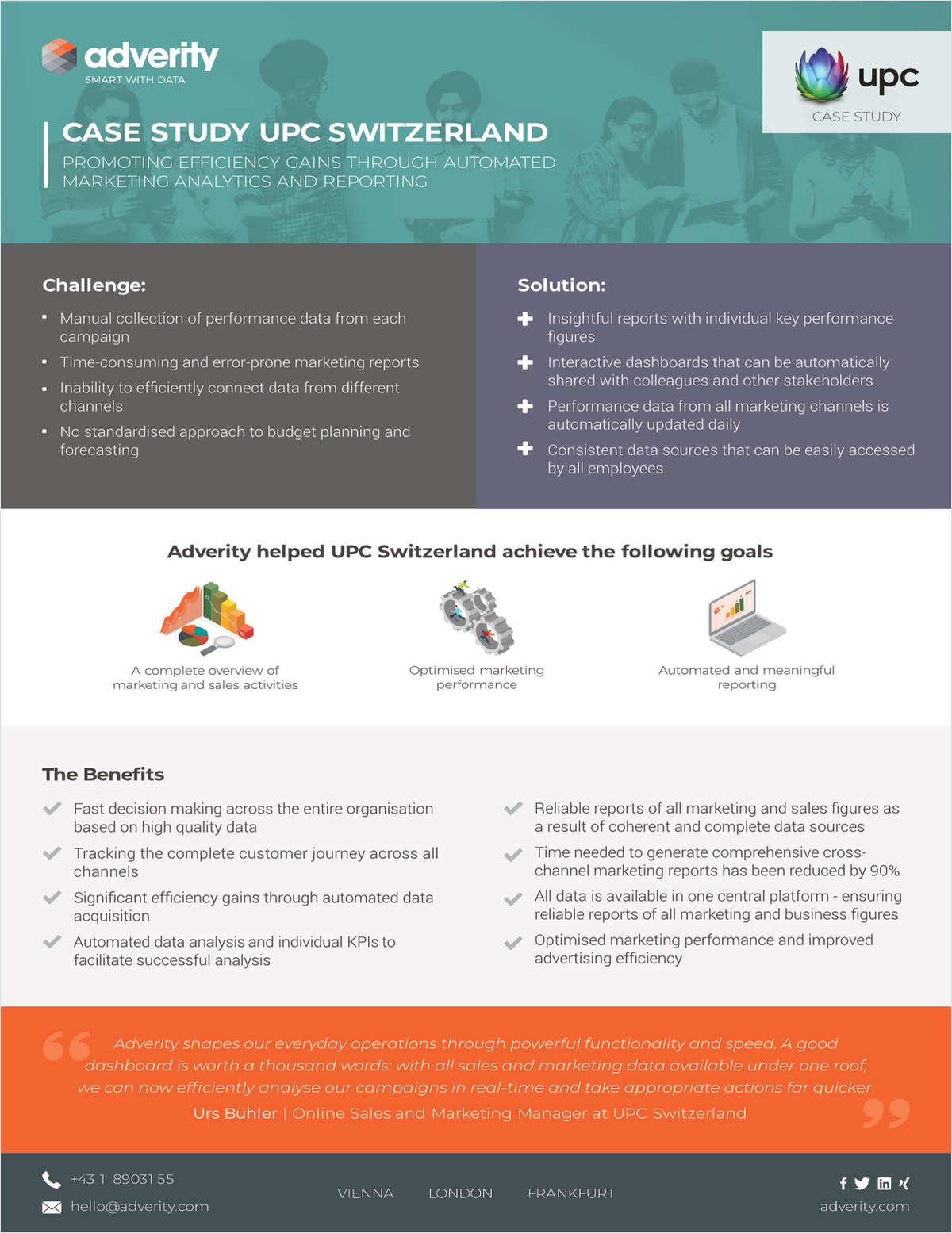 Case Study: Automated Marketing Reporting UPC Switzerland