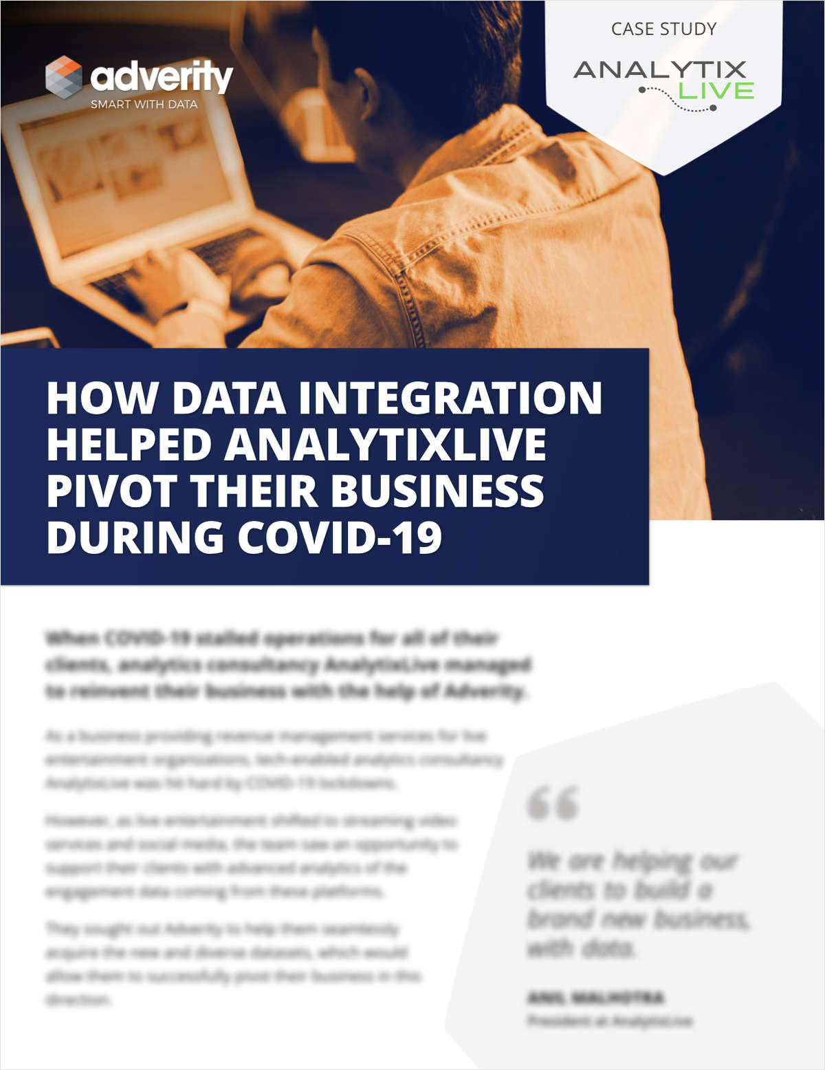 eGuide: How Data Integration Helped Analytix Live Pivot Their Business During Covid-19