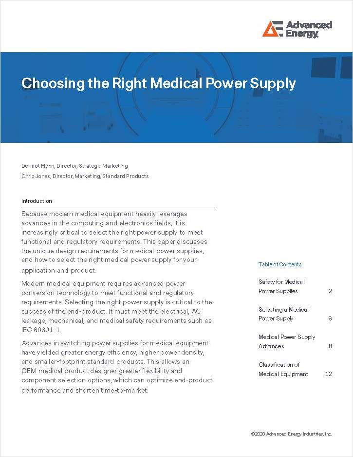 Choosing the Right Medical Power Supply