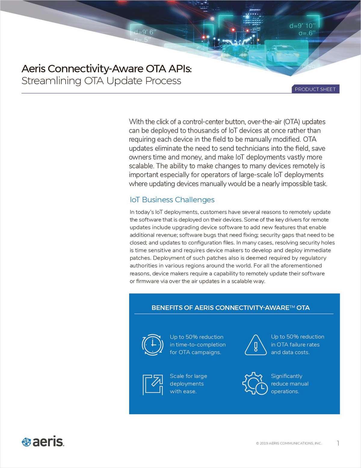 Connectivity-Aware OTA APIs: Streamlining OTA Update Process