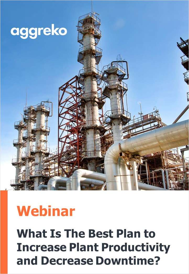 What is the best plan to increase plant productivity and decrease downtime?