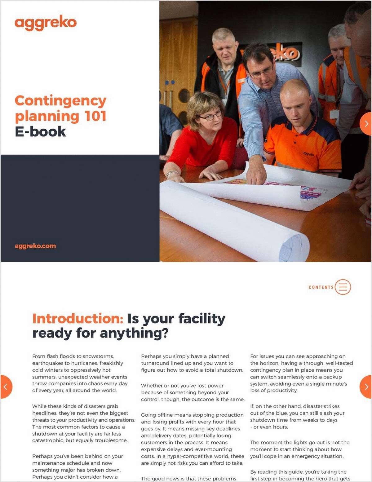 Contingency Planning 101, Free Aggreko eBook