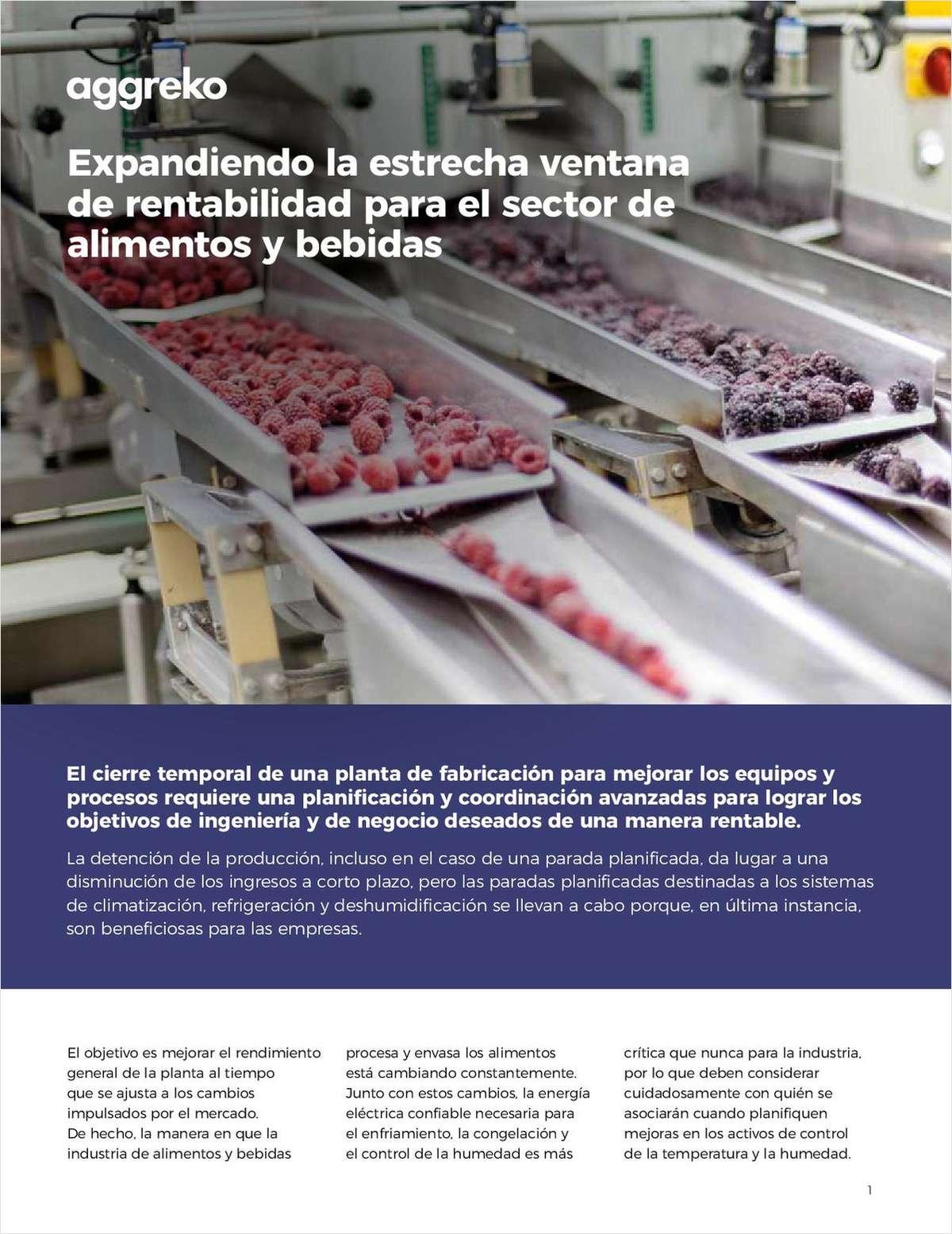 Expandiendo la estrecha ventana de rentabilidad para el sector de alimentos y bebidas