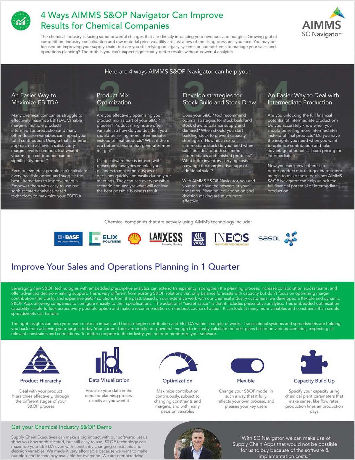 4 Ways Better S&OP Tools Can Improve Results for Chemical Companies