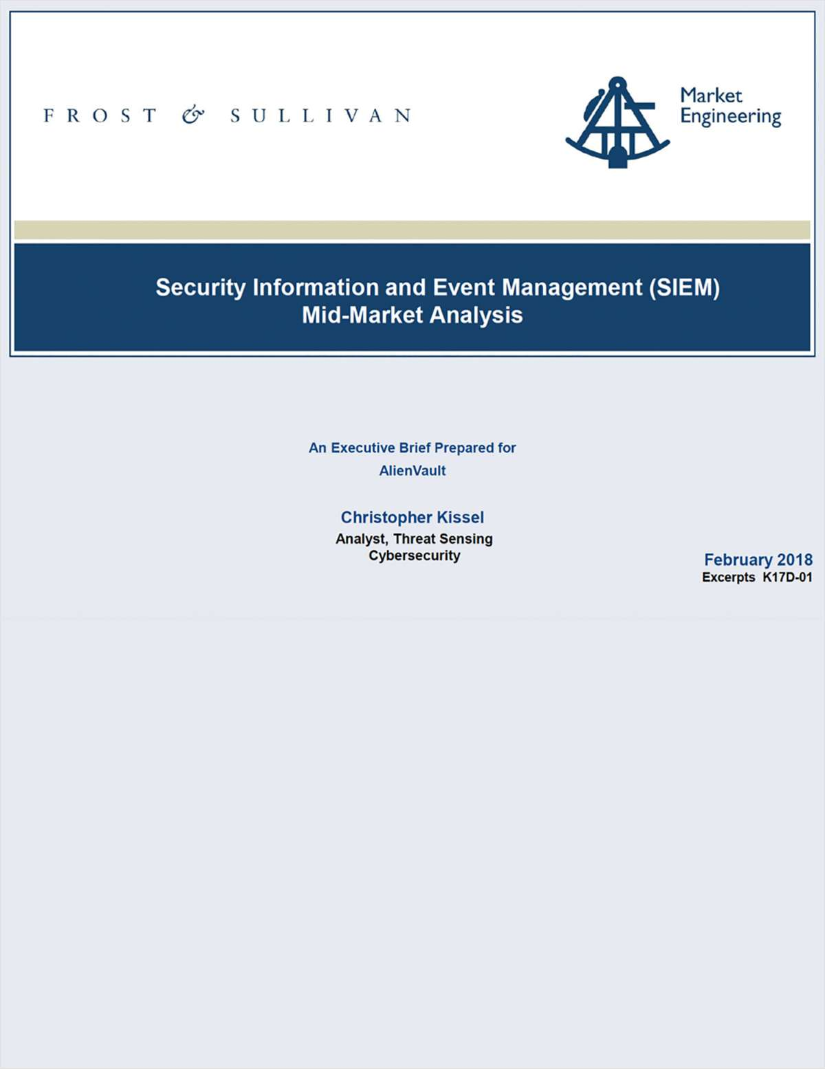 Frost & Sullivan: Security Information and Event Management (SIEM) Mid-Market Analysis