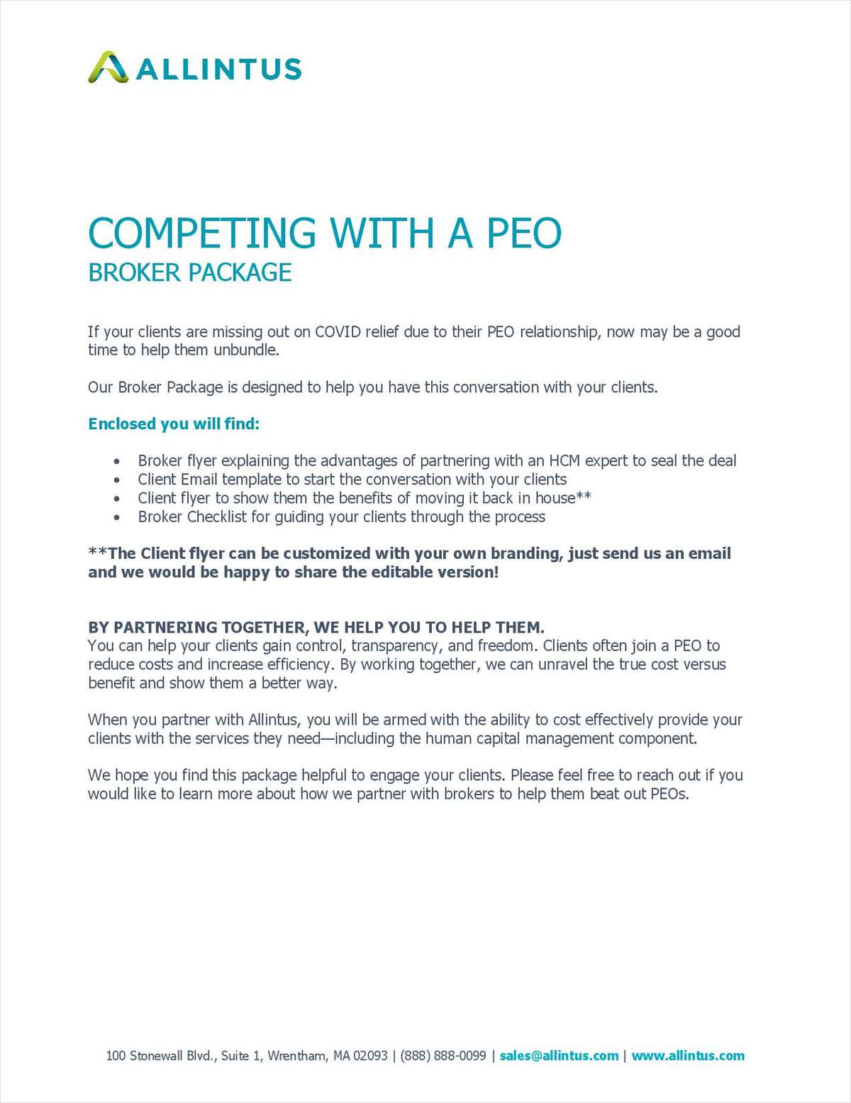 Competing with a PEO: Broker Toolkit