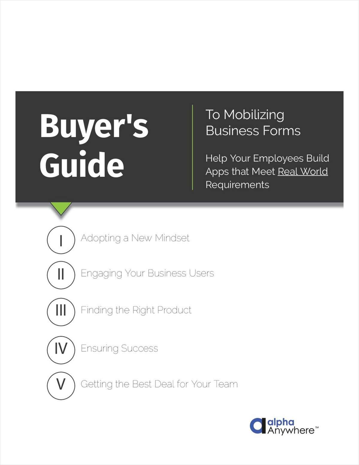 Buyer's Guide to Mobilizing Business Forms