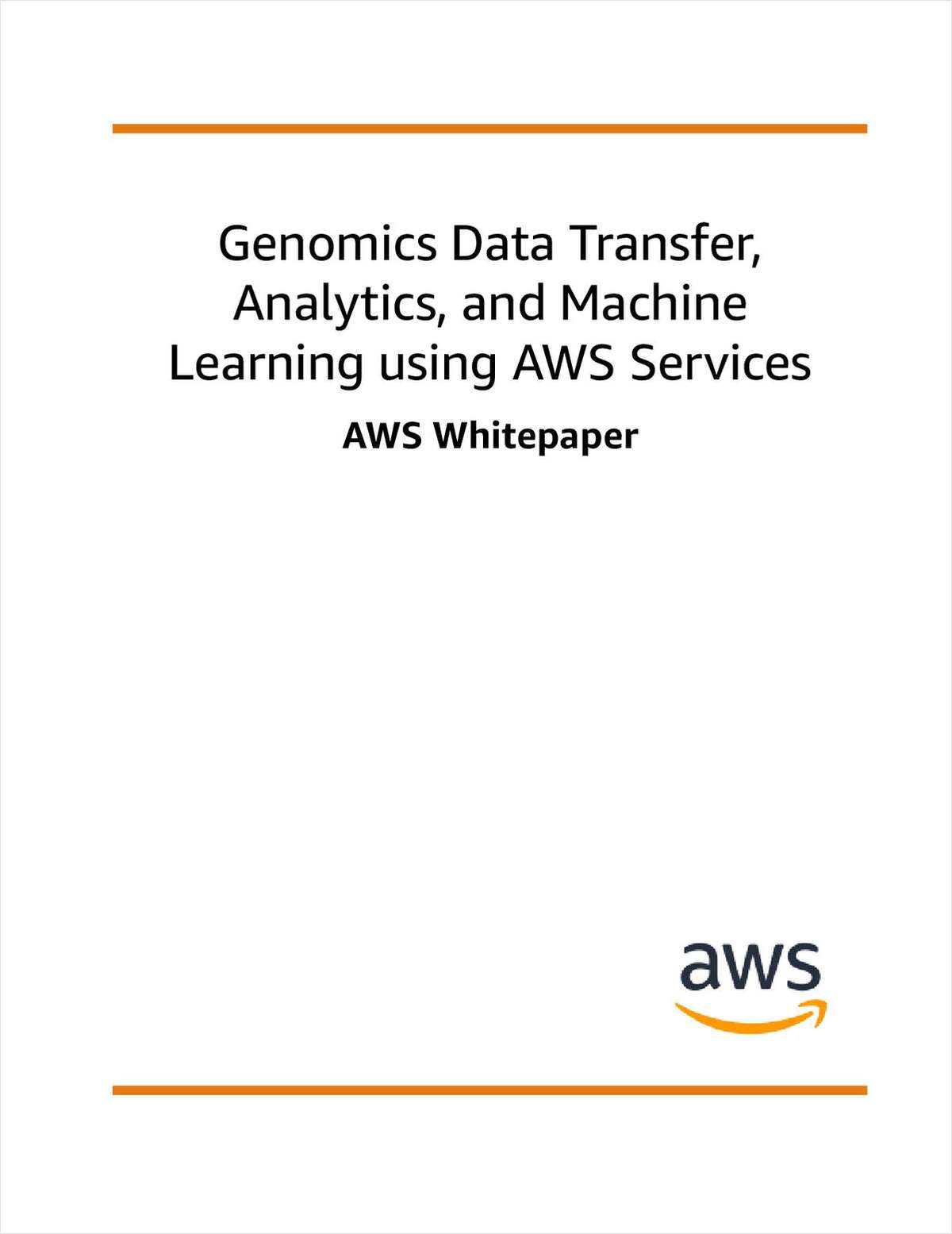 Genomics Data Transfer, Analytics, and Machine Learning Using AWS Services