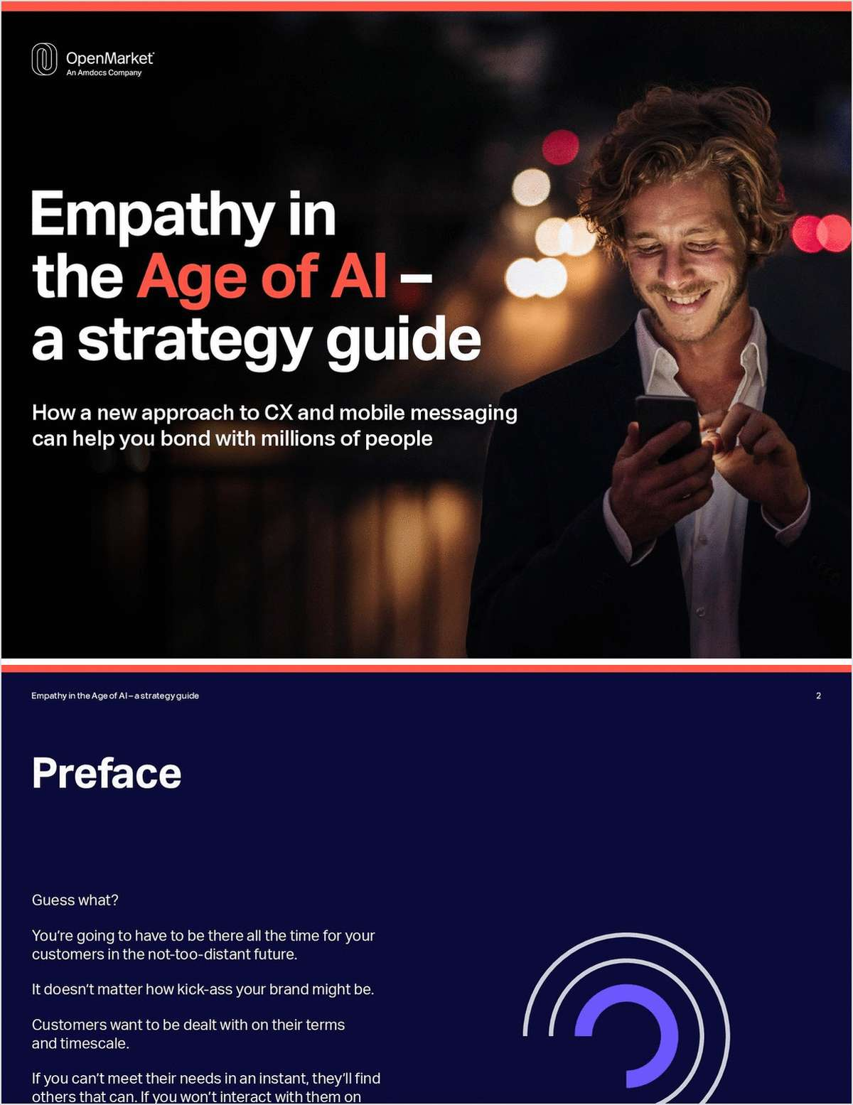 Empathy in the Age of AI - A Strategy Guide. How a New Approach to CX and Mobile Messaging Can Help You Bond with Millions of People