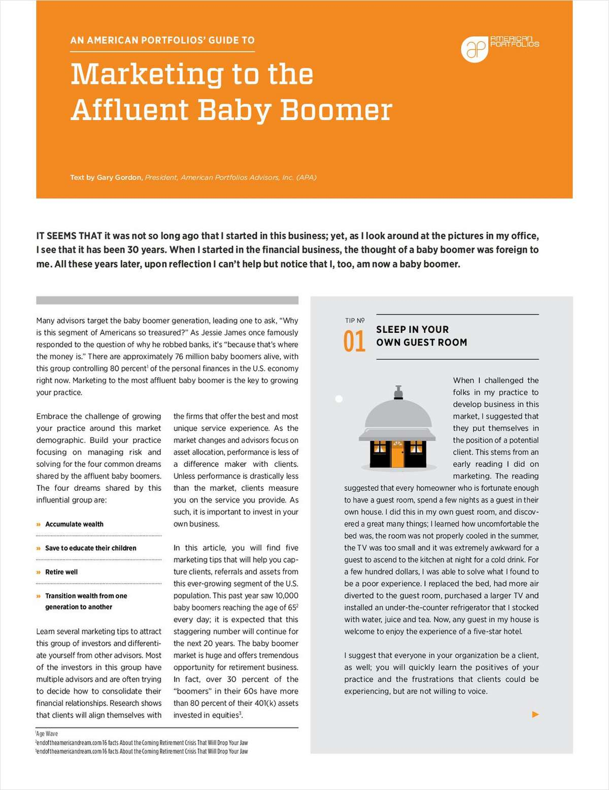 Marketing to the Affluent Baby Boomer