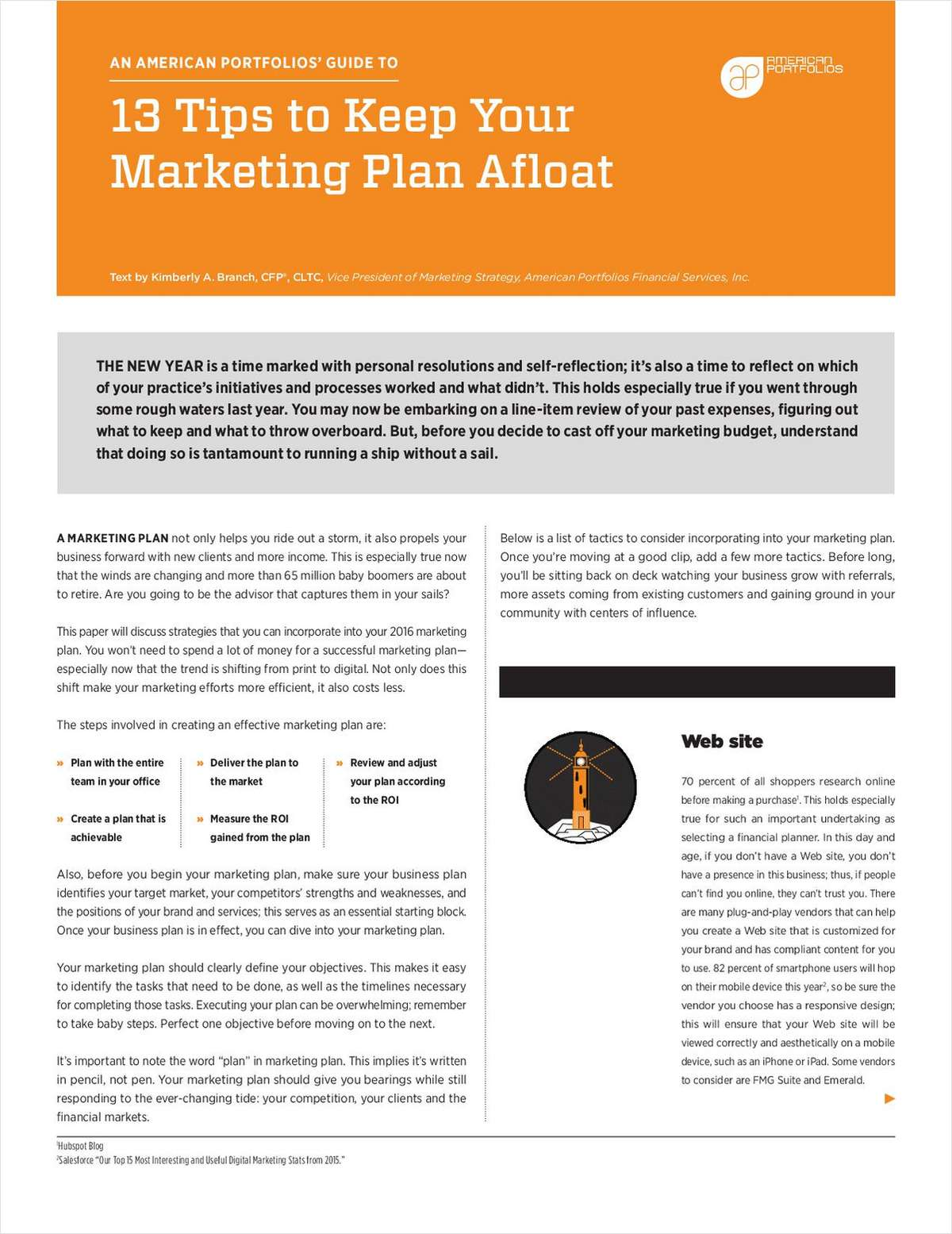13 Tips to Keep Your Marketing Plan Afloat