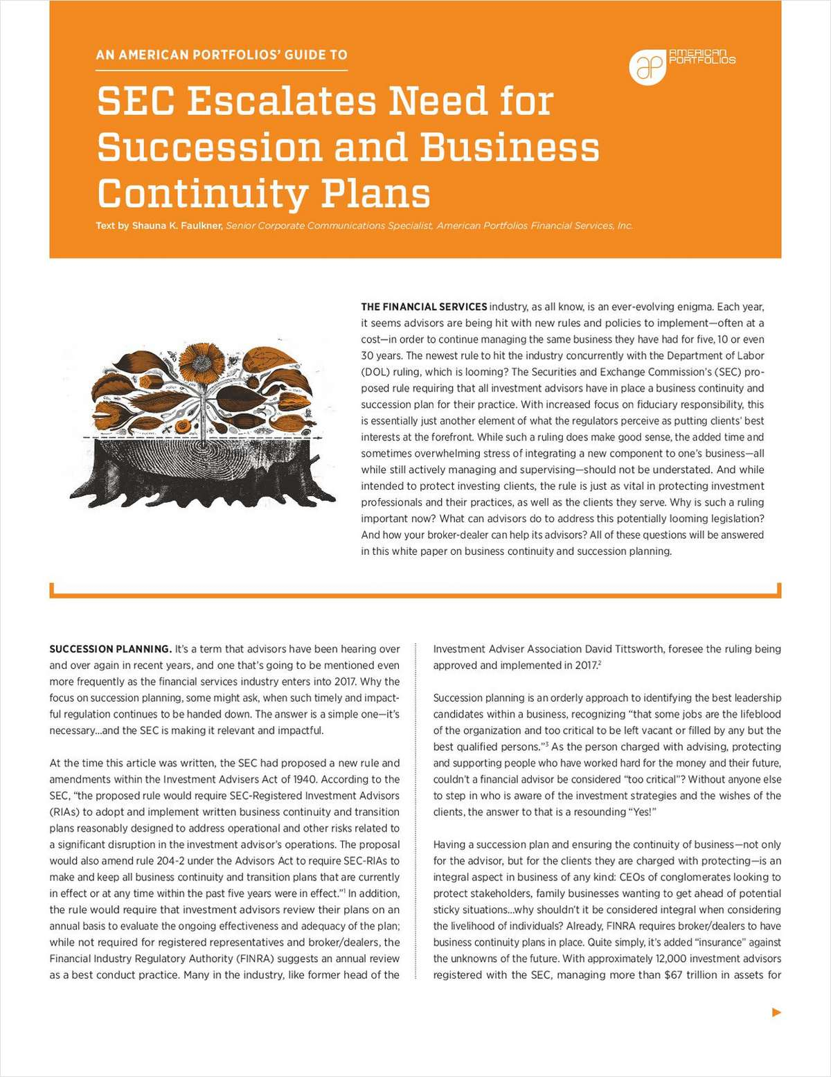 SEC Escalates Need for Succession and Business Continuity Plans
